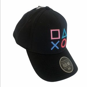 PlayStation Buttons Embroidered Black Baseball Cap